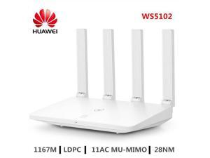 HUAWEI WS5102 WiFi Router 2.4GHz + 5GHz Dual Band Smart Home Wireless Router 100M LDPC 11AC MU-MIMO Support IPv6 WiFi Amplifier