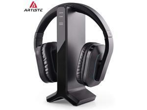 0e3be461dcd ARTISTE HT280 2.4G RF Wireless Headphones for TV Watching with Transmitter  Charging Dock, Ideal