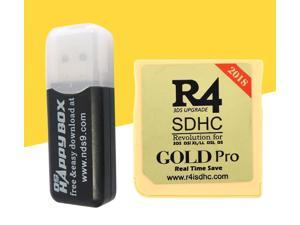Real Time Save Game Backup Device Flashcard For Nintendo R4 3DS Replacement + Card Reader For R4 - Gold Pro