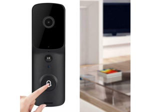 Video Doorbell Wi-Fi Enabled Smart HD Security Camera Night Vision IP Cam