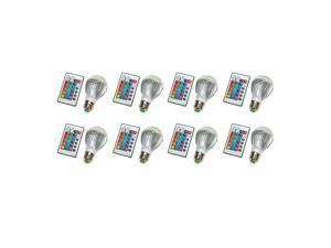 LED Color Changing Light Bulb with Remote Control-8 Pack