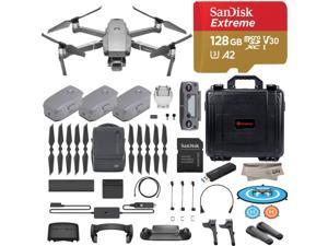 DJI Mavic 2 Pro Drone Quadcopter, Fly More Combo Kit, Hasselblad Camera HDR Video, with 3 Batteries, 128GB Micro SD, Landing Gear & Pad, Prop Holder, Stick Protector, Extra Hard Carrying Case