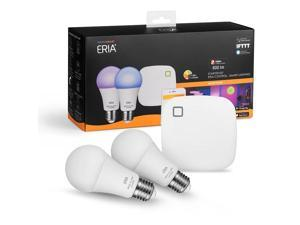 AduroSmart ERIA Colors and White Shades Smart A19 Starter Kit, works with Alexa / Google Assistant