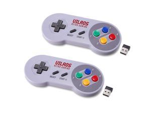 Vilros Retro Gaming SNES Classic Wireless USB Gamepad-Set of 2