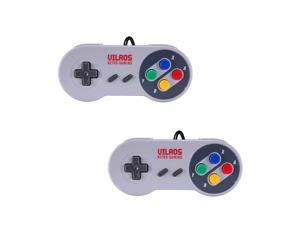 Vilros Retro Gaming Weighted Classic SNES Style USB Gamepads-Set of 2
