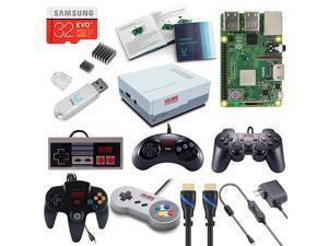 Vilros Raspberry Pi 3 Model B+ (B Plus) Retro Arcade Gaming Kit with Multi Retro Gaming Controller Set-Includes: NES, SNES, N64, PS2 & GENESIS Controllers …