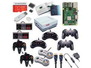 Vilros Raspberry Pi 3 Model B+ (B Plus) Retro Arcade Gaming Kit with Multi Retro Gaming Controller Set-Includes: 2 Each of NES, SNES, N64, PS2 & GENESIS Controllers