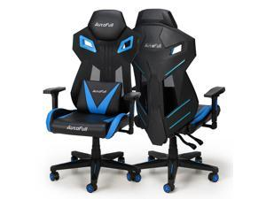 AutoFull Gaming Chair - Mesh Ergonomic Executive High Back Computer Office Racing Style Chair with Lumbar Support (1 Pack)