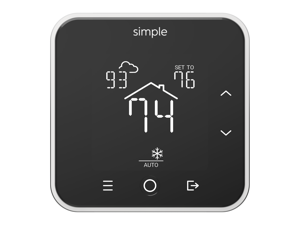 theSimple Thermostat, Energy Star WiFi Smart Thermostat With Mobile App, 7 Day Schedule, Works with Amazon Alexa (With C-Wire Kit)