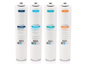 Aquasure Premier Series Complete 4 Stages Quick Change Filter Bundle with 100 GPD High Performance Reverse Osmosis Membrane