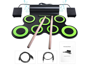 Zgeer Electronic Drum with Percussion Pad, Portable Electronic Roll Up Drum, Perfect for Beginners and Kids