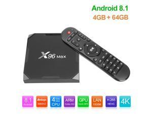 X96Max Smart TV Box Android 8.1 Amlogic S905X2 Quad Core LPDDR4 4GB 64GB 2.4G 5G Dual Wifi BT 1000M H.265 4K Set Top Box X96 Max