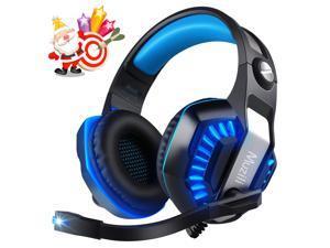 MUZILI USB Gaming Headset GameK2 Surround Sound PC Gaming Headphone with Noise Cancelling Mic LED 3.5