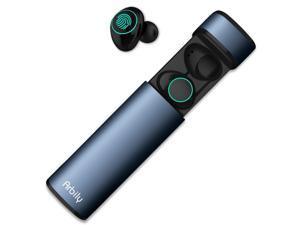 Muzili Wireless Earbuds, Y9 True Sport Wireless Headphones V5.0 HD Smallest In-Ear Bluetooth Stereo Sweatproof Earbuds Noise Cancelling Headset with Metal Charging