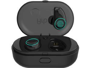Yuanguo True Wireless Earbuds Langsdom X7 Mini 5.0 Bluetooth Earphones In-Ear Noise Isolating Earphones with Mic Smart Touch Control Touch Lampand & Portable Charging Box for iPhone Samsung and More