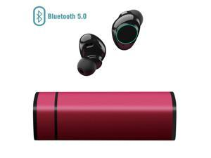 ARBILY Wireless Earbuds, Y9 Sport Wireless Headphones 5.0 HD Smallest In-Ear Bluetooth Stereo Sweatproof Earbuds Noise Cancelling Headset with Charging Box