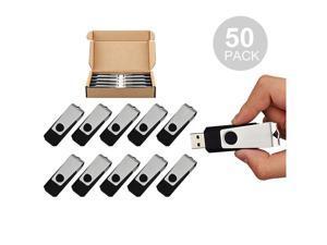 50PCS 16GB USB 2.0 Flash Drive Bulk Pack Swivel Memory Stick ...