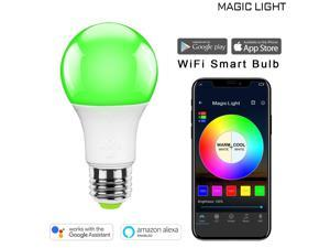 MagicLight WiFi Smart Light Bulb, Dimmable, Multicolor, Wake-Up Lights, No Hub Required, Magic Light Compatible with Alexa and Google Assistant (40 Watt Equivalent - Multicolor)