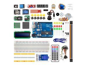 Computer & Office Demo Board Accessories 1 Set Portable Diy For Arduino Starter Kit Uno R3 Led Potentiometer Tact Switch Pin Header Resistor Kit Compatile With Uno R3