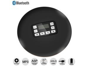 Portable CD Player with LED Display Jack Anti-Skip Protection Anti-Shock Personal Music Disc Player