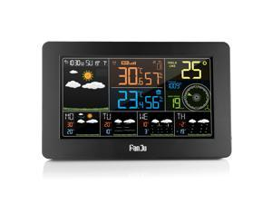 FanJu FJW4 Multifunction WiFi Digital Alarm Clock Smart Weather Station Indoor Outdoor Temperature Humidity with APP Control