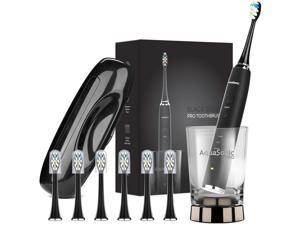 AquaSonic Black Series PRO - Ultra Whitening 40000 VPM Rechargeable Electric Toothbrush w/Revolutionary Wireless Charging ...