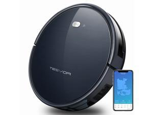 Tesvor Robot Vacuum Cleaner with Smart Mapping System, App Controls, Alexa Connectivity,  Self-Charging Robotic Vacuum for Pet Hair Care, Hard Floors and Thin Carpets