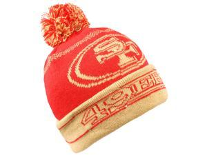 b90a48c4567 San Francisco 49ers light-up LED pom pom knit hat