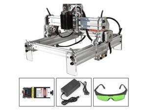 2000mw Mini Laser Engraving Cutting Machine Printer Kit Desktop 12V DIY Engraver 17*20cm   Desktop Wood Router/Cutter/Printer+ Laser Goggles