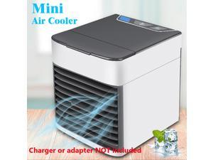 Portable Mini Air Cooler Air Conditioner Conditioning LED Light Humidifier Purifies Air Cooling Fan for Home Office