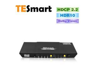 TESmart Ultra HD 4x1 HDMI Switcher supports4K@60Hz 4: 4: 4, 4-port HDMI switch with audio output and IR remote control, HDR,3D, For Xbox 360/One, PS4/PS3