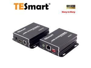 TESmart 400ft HDMI KVM Extender Over TCP/IP Ethernet/Over Single Cat5e/cat6 Cable 1080P with IR Remote (One Sender + One Receiver)