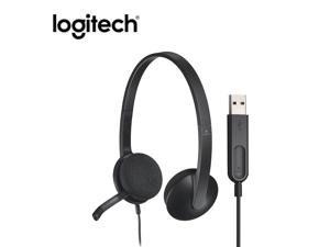 Logitech H340 Headset Stereo USB Headset with Rotatable Mic for Windows MacOS ChromeOS head-mounted gaming headphone for gamer