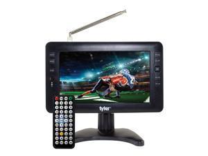 Tyler Portable Widescreen LCD TV with Detachable Antennas, USB/SD Card Slot, Built in Digital Tuner, and AV Inputs (TTV704-9)
