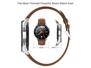 Smart Watch Men's Heart Rate Blood Pressure Monitor Pedometer Fitness Tracker IP68 Waterproof Smartwatch With Bluetooth Call (Brown Color)