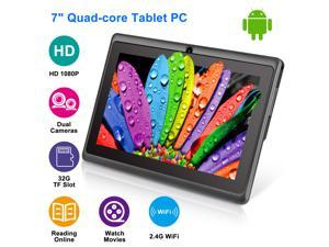 "7""Android Tablets PC WiFi Quad Core 8GB Multi-touch Screen HD Dual Camera Kids Students Tablets w/ OTG Cable"