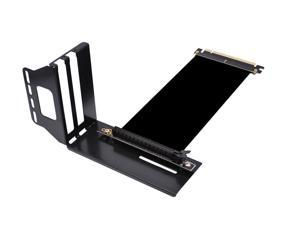 Plugadget Vertical Graphics Card Holder Bracket GPU Mount with High Speed PCIe 3.0 x16 PCIE Riser Cable