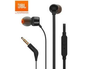 JBL T110 Pure Bass In-Ear Headphones - Black