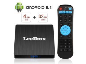 Leelbox Q4 S Android 8.1 tv Box,  4GB+32GB Quad Core Smart TV Box