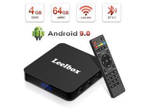 Android TV Box 9.0 ,Leelbox Q4 Plus, 4GB+64GB