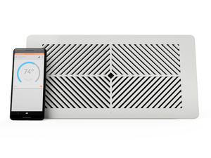 "Flair Smart Vent, Smart Vent for Home Heating and Cooling Systems. Compatible with Alexa, works with ecobee, Honeywell smart thermostats, and Google Assistant (4""x12"", Requires Flair Puck)"