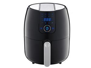 Nuovi 8-In-1 Air Fryer, 3.7Quart 1500W, Oil Free Healthy Cooking, Hot Air Deep Cooker with LCD Touch, Temperature and Time Control, Detachable Basket Handle,  FDA Certified