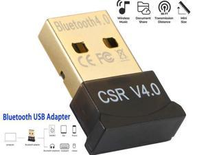 Bluetooth Adapter Bluetooth USB Adapter CSR 4.0 USB Dongle Bluetooth Receiver Transfer Wireless Adapter for Laptop PC Support Windows 10/8/7/Vista/XP,Mouse and Keyboard,Headset, Plug and Play