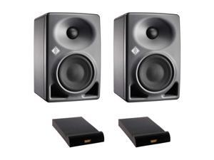 "Neumann KH 80 DSP 4"" Active 2-Way Studio Monitor (Pair) with (2) Isolation Pad, Medium Bundle"