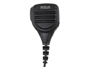 RCA SM220-X03 Medium Duty Speaker Mic | 3.5mm Aux. Jack | IP54 Rating | X03 Two Prong Right Angle Connector