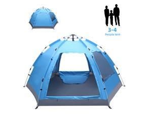 Magace 3-4 Person Instant Pop Up Waterproof Tent,Automatic Family Tent ,for Camping Hiking Travel Outdoor Activities
