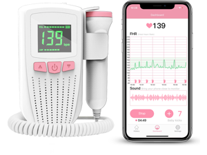 Wellue Fetal Doppler BabyTone™  Baby Heart Monitor Review and Share Tracking Records via APP