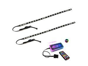 Universal 40cm Magnetic RGB Lighting Strip Two Light Strip for Computer Cases With Remote Control