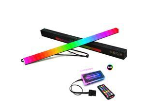 Universal 30cm Magnetic RGB Lighting Strip Two Side Light for Computer Cases With Remote Control