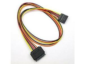 "24"" 15-Pin SATA Male to Female Power Extension Adapter Cable"
